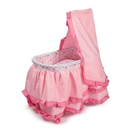 Колыбель для куклы Demi Star розовая