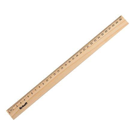 Линейка 30 см Erhaft деревянная