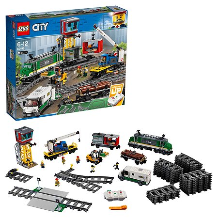 Конструктор LEGO City Trains Товарный поезд 60198