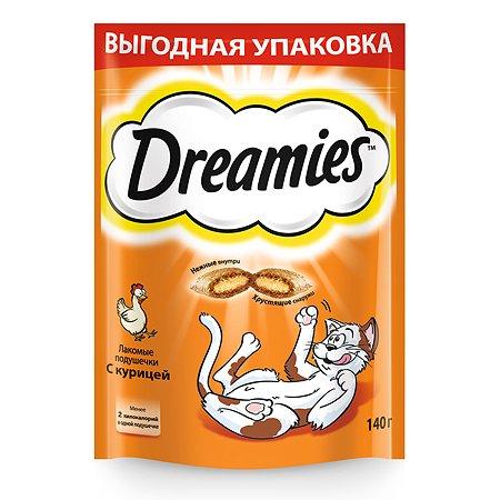 Лакомство для кошек Dreamies подушечки c курицей 140г