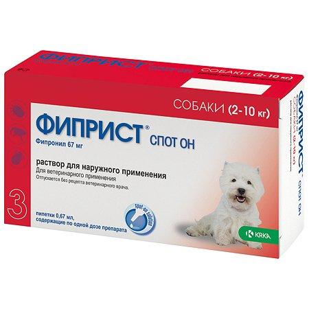 Препарат инсектоакарицидный для собак KRKA Фиприст Спот Он 67мг/0.67мл №3 пипетка