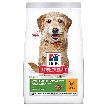 Корм для собак HILLS Science Plan Youthful Vitality пожилых мелких пород курица и рис 250г