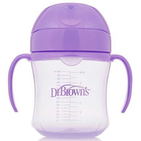 Чашка-непроливайка Dr Brown's 180мл с 6месяцев Фиолетовый TC61001