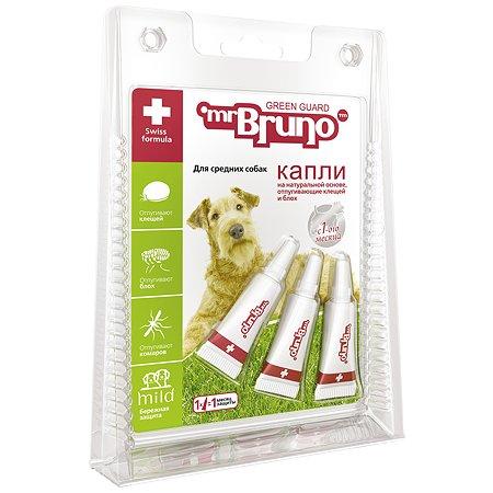 Капли для собак Mr.Bruno репеллентные средних пород 2.5мл 56198