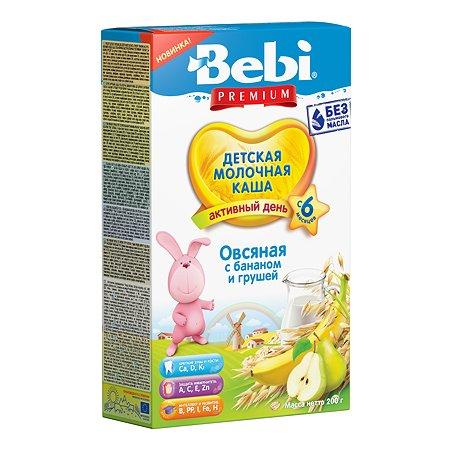 Каша молочная Bebi Premium овсяная с бананом и грушей 200г с 6месяцев