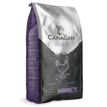 Корм для кошек Canagan пожилых стерелизованных с избыточным весом цыпленок и лосось 4кг