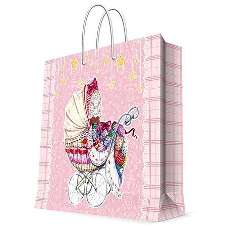 Пакет бумажный Magic Time Розовая коляска 33*16*41см