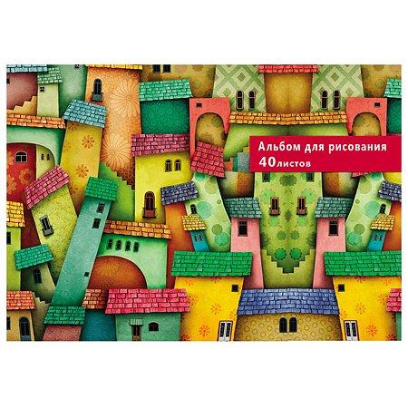 Альбом для рисования Profit Домики и лестницы А4 40л 40-6201