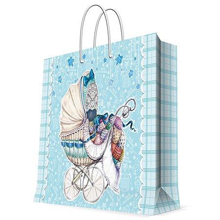 Пакет бумажный Magic Time Голубая коляска 33*16*41см