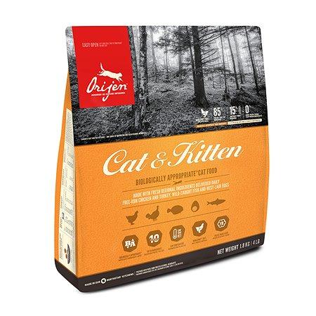 Корм сухой для кошек ORIJEN Cat and kitten 1.8кг беззерновой с цыпленком