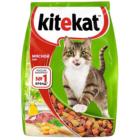 Корм сухой для кошек KiteKat 350г Мясной пир