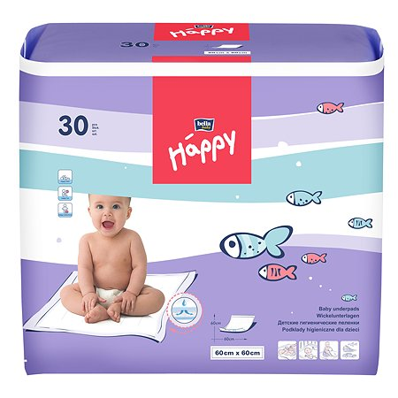 Пеленки Bella baby Happy 60*60см 30шт