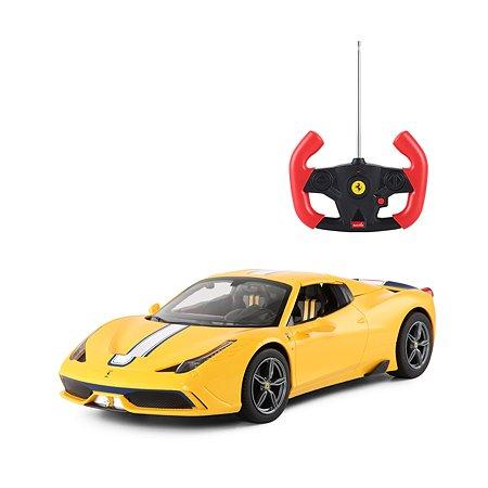Машина на радиоуправлении Rastar Ferrari 458 USB 1:14 кабина Желтая