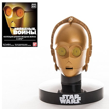 Шлем на подставке Bandai Star Wars C3PO 6.5см