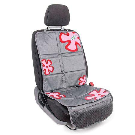 Защитная накидка Смешарики под детское кресло на спинку и сиденье Серо-красная