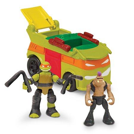 Вагон c фигурками Ninja Turtles(Черепашки Ниндзя) Майки и Бипопа