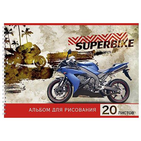 Альбом для рисования Prof Press Мотоцикл в тропиках А4 20л 20-8755