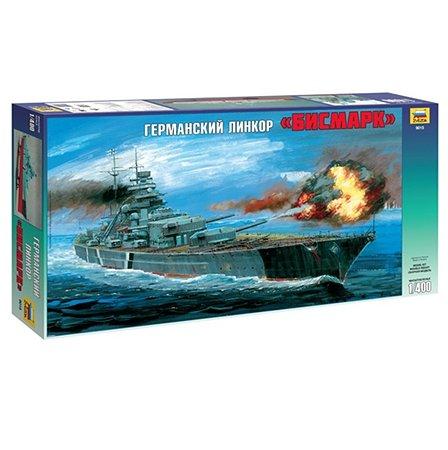 Модель для сборки Звезда Немецкий линкор Бисмарк