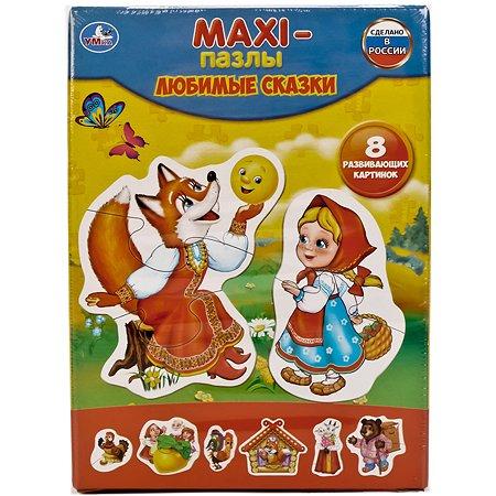 Макси-пазлы УМка Любимые сказки 8 развивающих картинок 240162