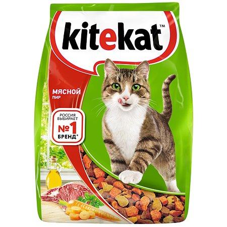 Корм сухой для кошек KiteKat 1.9кг Мясной пир
