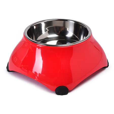 Миска для собак SuperDesign на меламиновой подставке высокая 160мл Малиновая 16026