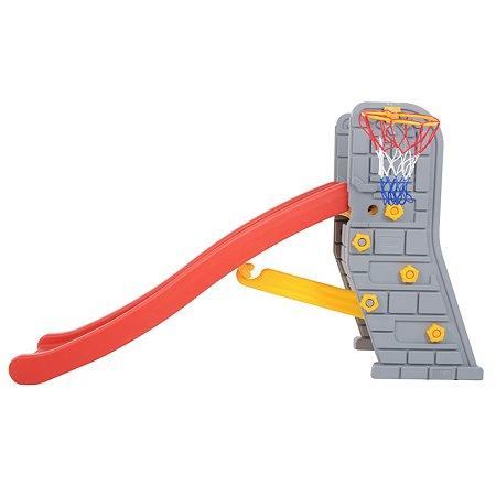 Центр игровой Edu Play Горка Башня Бежевый-Красный-Желтый SL-6103