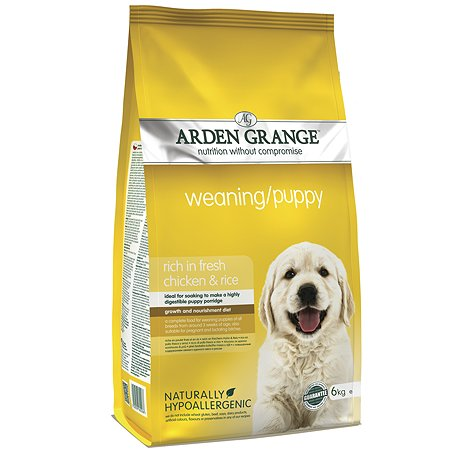 Корм для щенков Arden Grange Weaning Puppy с курицей 6кг