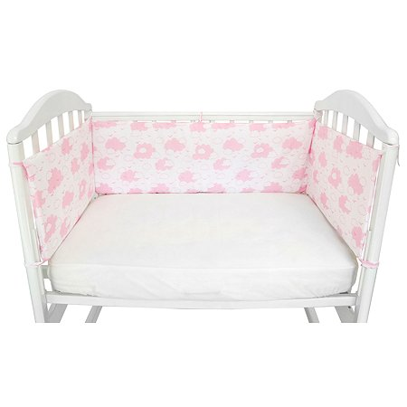 Борт в кроватку Споки Ноки Облака Розовый DMS211/6RO