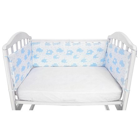 Борт в кроватку Споки Ноки Облака Голубой DMS211/6BL