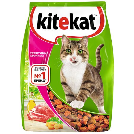 Корм сухой для кошек KiteKat 800г аппетитная телятинка