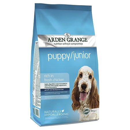 Корм для щенков Arden Grange Puppy Junior с курицей 6кг