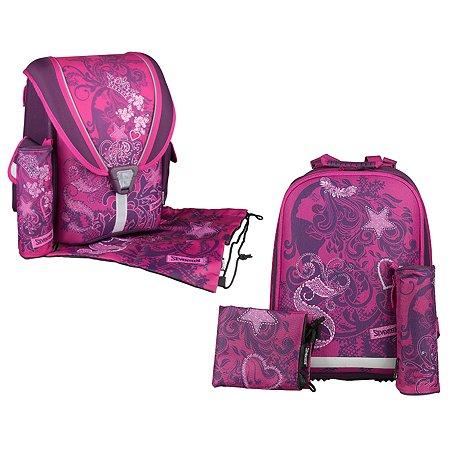 Набор школьницы Kinderline Seventeen (ранец + пенал + мешок для обуви) в ассортименте