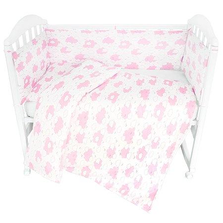 Комплект постельного белья Споки Ноки Облака Розовый 3предмета DMC111/6RO