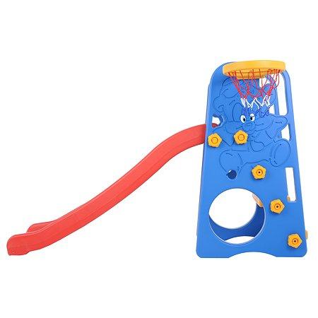 Центр игровой Edu Play Горка Друзья с баскетбольным кольцом Синий-Красный-Желтый WJ-312
