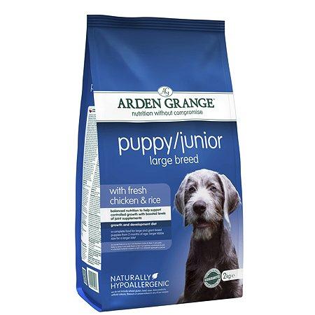Корм для щенков Arden Grange Puppy Junior Large Breed с курицей и рисом 2кг
