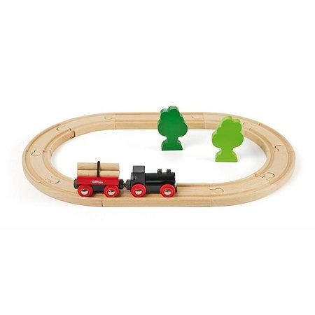Железная дорога Brio с грузовым поездом. 18 элементов
