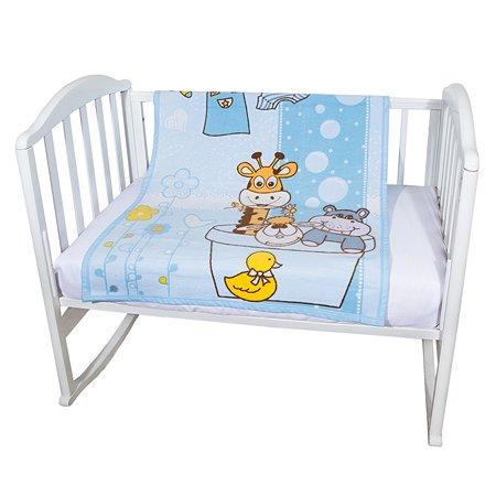 Одеяло байковое Baby Nice 85х115 голубое Купание