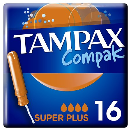 Тампоны Discreet Tampax Compak Super PlusDuo 16шт