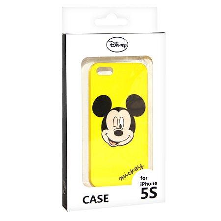 Крышка задняя для iPhone 5 Disney Микки Жёлтый