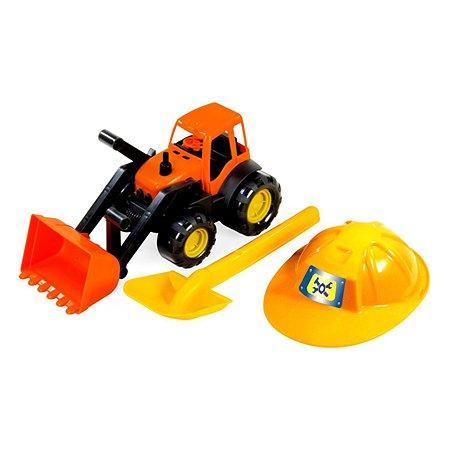 Трактор Zebratoys с каской и лопатой