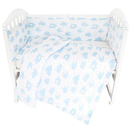Комплект постельного белья Споки Ноки Облака Голубой 3предмета DMC111/6BL