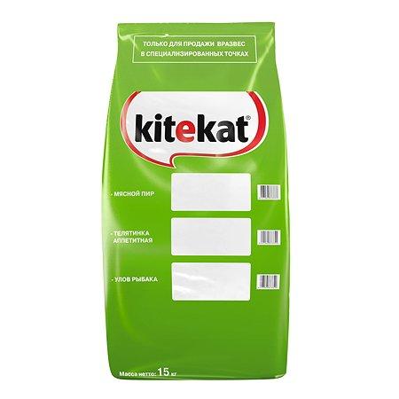 Корм сухой для кошек KiteKat 15кг Улов рыбака