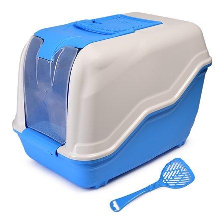 Био-туалет для кошек MPS Netta с совком Голубой