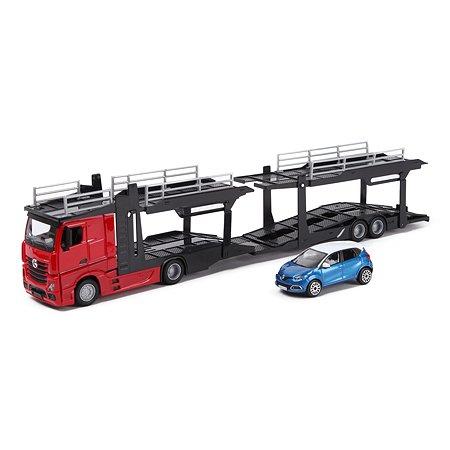 Машина BBurago 1:43 Mercedes Benz +Renaul Captur 18-31457