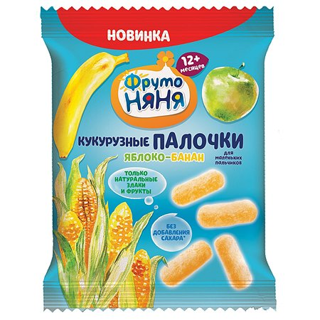 Палочки ФрутоНяня кукурузные яблоко-банан 20г с 1года