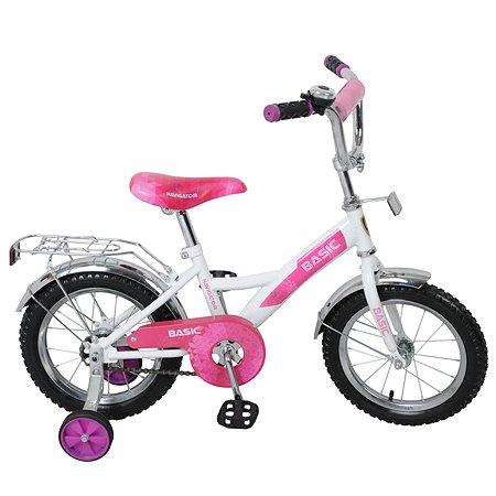 """Велосипед Navigator Basic 14"""" Бело-фиолетовый"""