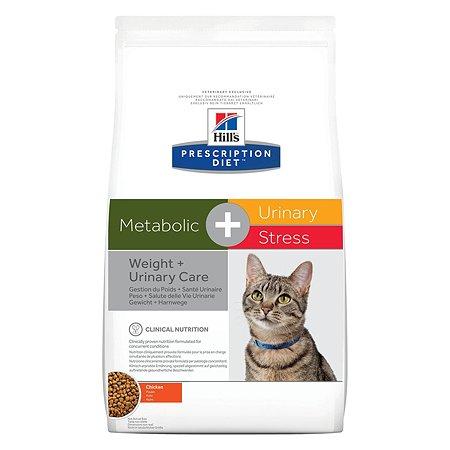 Корм для кошек HILLS Prescription Diet Metabolic Urinary Stress Feline для коррекции веса и поддержания здоровья при МКБ с курицей сухой 1.5кг