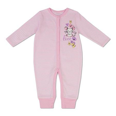 Комбинезон BabyGo розовый