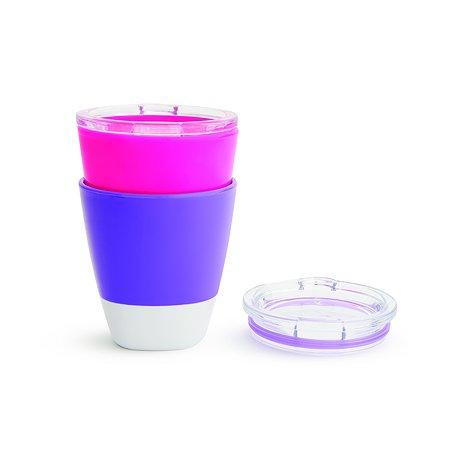 Набор стаканчиков Munchkin 2шт Розовый Фиолетовый 11259