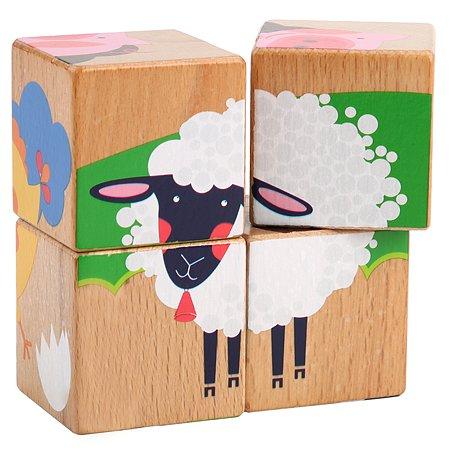 Кубики МДИ Ферма 4шт LL244